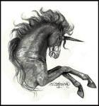Midnight Horror Skeleton Unicorn Horse