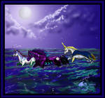 Ocean Unicorn Horse Pony Moon Dragon