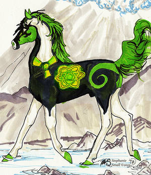 Control Rod Toxics Stud Horse Stallion Pony Green