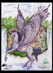 Gemini Falls the Winged Unicorn Stallion by StephanieSmall