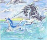 Oceanic Glory Unicorn Narwhal Ocean Water Sea Pony
