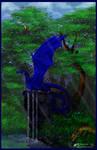 C Resplendent Blue Dragon Aurora Cobalt Reptile