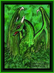 ATC Emerald Dragon Reptile Monster Green Beast Red