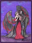 Tariel Angel Graz'zt Demon Monster Beast Red Black