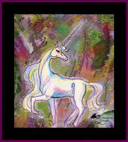 Umbraglow Ghost Unicorn Horse Pony Equine Mare by StephanieSmall