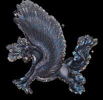 Esmalcarna Unicorn Horse Pegasus Equine Equus Blue by StephanieSmall