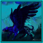 J'nar the Winged Panther Male Felshae by StephanieSmall