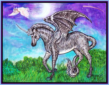 Joka Zebra Dragon Unicorn Stud Horse Pegasus wings