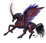 Umalius Black Rainbow Pegacorn Stallion