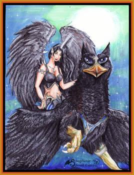 Griffon Gryphon Angel Griffin Woman girl Female