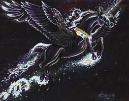 Unicorn Stars Horse Pony Pegasus Wings Winged Equs by StephanieSmall
