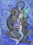 Mermaid Merman Sea Unicorn Ocean Dragon Blue Water