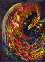Phoenix Pheonix Red Firebird Thunderbird Bird Hawk by StephanieSmall