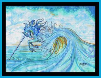 Unicorn Sea Ocean Hippocampus Horse Pony Aquatic by StephanieSmall