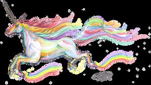 Vaalathra Rainbow Unicorn Colorful Horse Pony