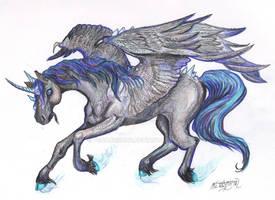 Eshicarnus Winged Unicorn Stallion horse pony equi by StephanieSmall