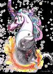 Uniyinyang Unicorn Nightmare Yin Yang Balance Pony