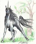 Delpemeron Unicorn Stallion Horseart