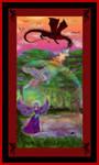 Dragon Unicorn Angel Spell Defense Firestorm by StephanieSmall