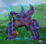 Mystery Unicorn Male and Female Purple Pegacorn