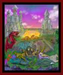 A Colorful Imagination Unicorn Dragon Angel Demon