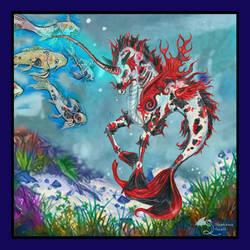 Nishikigoi Kir'rin Koi Hippocampus Stallion Red Ki by StephanieSmall