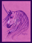 Native Unicorn Purple Pink Mustang Horse Magenta