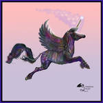 Aevaron Male Black Winged Unicorn Flying Pegacorn