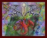 Dragon Protection Lover Dreamcatcher Pentagram