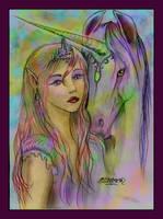 Abulesha Marwari Unicorn Pegacorn and Tariel by StephanieSmall