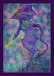 Angel Riding Dragon Ocean Unicorn Waves Horse Girl
