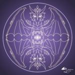 Fantasy Goth Mandala Dragon Crystal Ball
