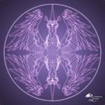 Fantasy Goth Mandala Winged Unicorn Crystal Ball