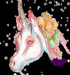 Exotic Unicorn Flower Pink Orange Island Mystical