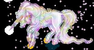 Eldeberis Rainbow Unicorn Colorful Horse Pony Cute by StephanieSmall