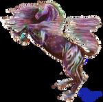 black rainbow stallion horse pony rearing colorful