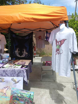 My Vending Booth and Products and T-shirts