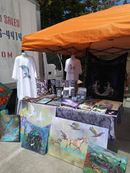 My Vending Booth and Products and T-shirts Sale