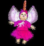 Angel Baby Unicorn Girl Pink Wings Horns Infant