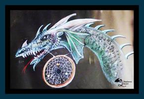 Dragon Dreamcatcher Purple Blue green native magic