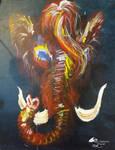 Pachyderm Mammoth Mastadon Elephant Magic Red Life
