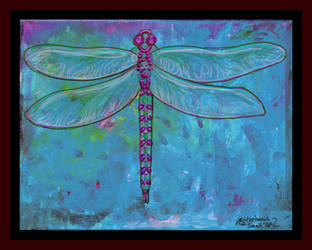 Dragonfly Bug Insect Wings bugs winged purple blue by StephanieSmall