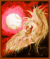 Unicorn Moon Dreams of Life and Song Pegasus Horse by StephanieSmall