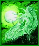 Unicorn Moon Dreams of Life and Song Pegasus Horse