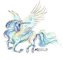 Valdeshia Unicorn Horse Pony Portrait Equine Equus by StephanieSmall