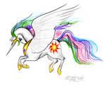 Princess Celestia Unicorn Horse Pony Equine Equus