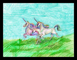 Unicorns Triplets Horses Pony Equine Equus ponies by StephanieSmall