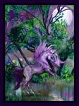 Unicorn Moonlight Horse Pony Purple Shelashra Moon
