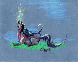 Unicorn Horse Pony Head Portrait Equine Equus by StephanieSmall