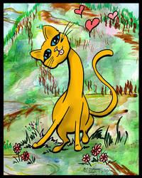 Cat Kitten Kitty feline funny cute yarn playing by StephanieSmall